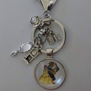 Accessories - Beauty and the Beast Keychain/Purse Dangle